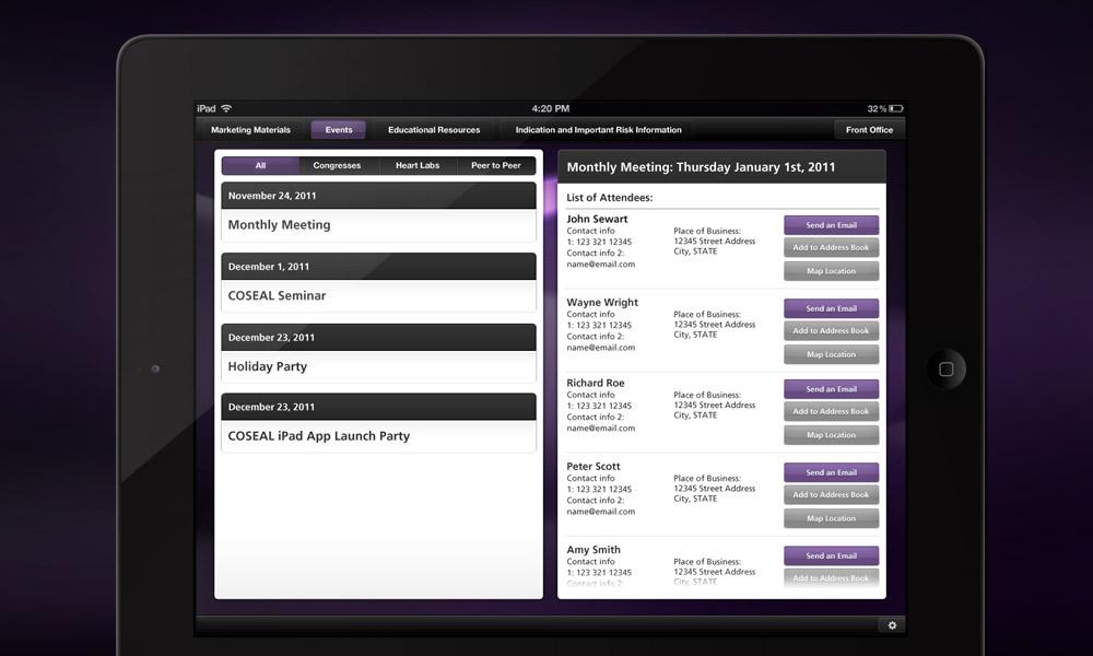 Baxter Coseal iPad App
