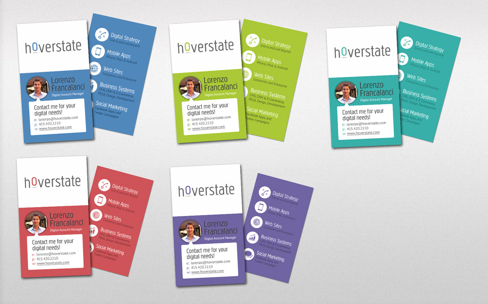Hoverstate Business Card Design