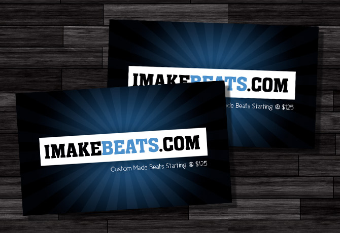 Hip Hop Makers Music Business Card Design
