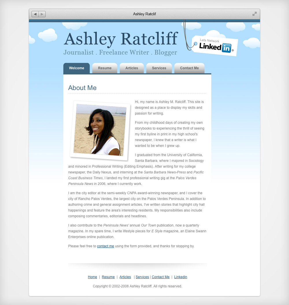 Ashley Ratcliff Website