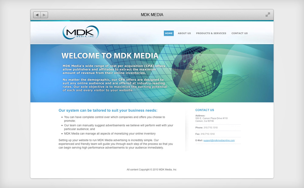 MDK Media Website