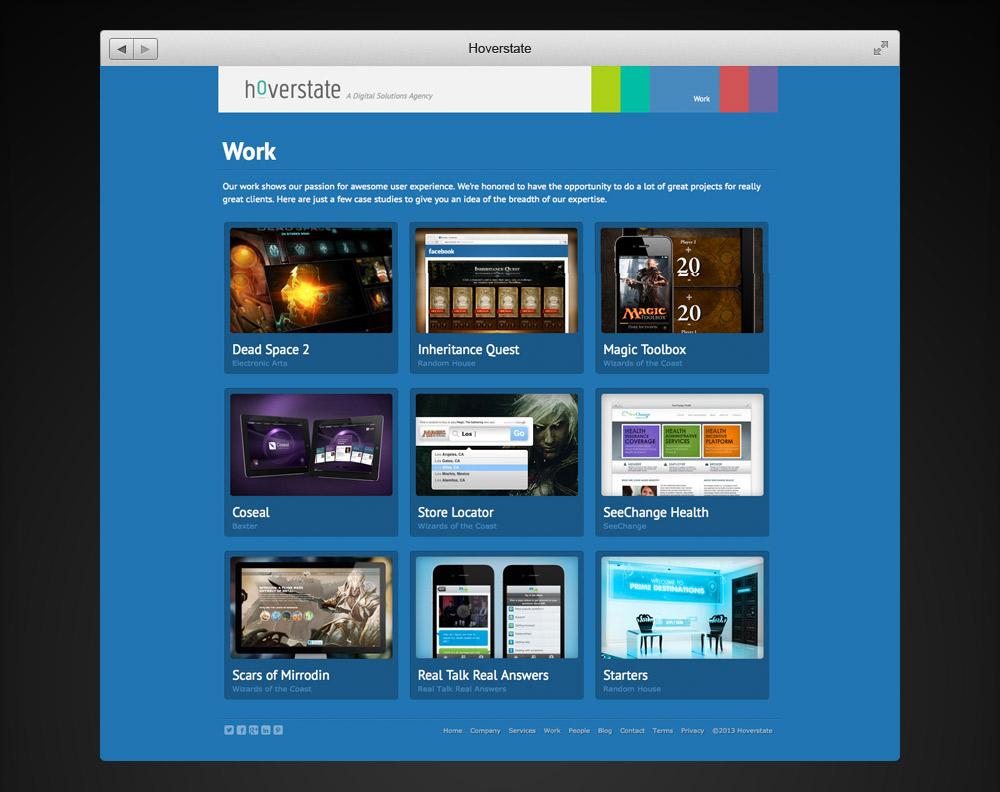 Hoverstate Website Work
