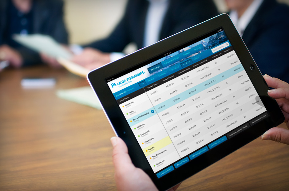 Kaiser Broker iPad App