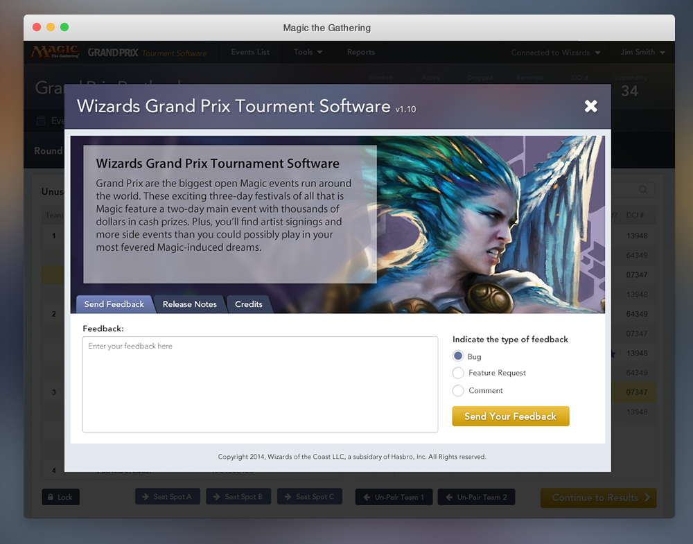 Magic the Gathering Tournament Software