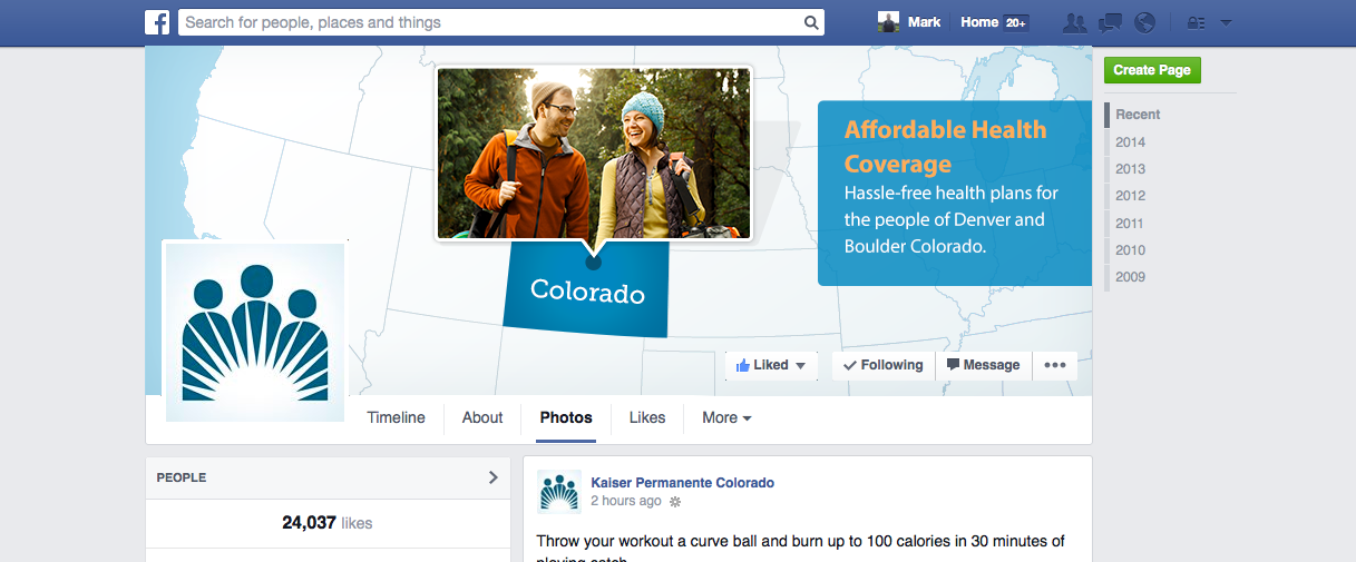 Kaiser Colorado Facebook Banner