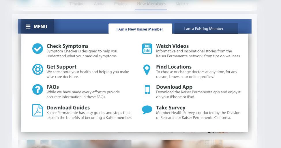 Kaiser Facebook Page